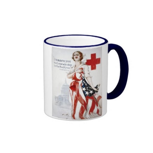 American Red Cross Vintage World War I Poster Mug
