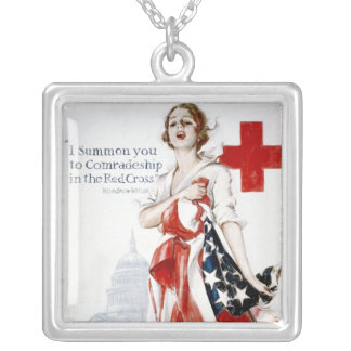 American Red Cross Vintage World War I Poster Necklaces