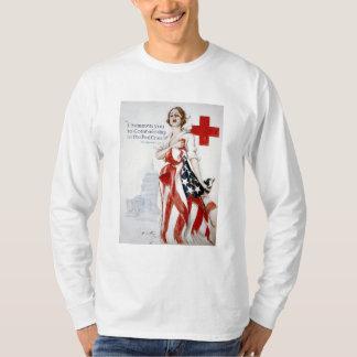 American Red Cross Vintage World War I Poster T-Shirt