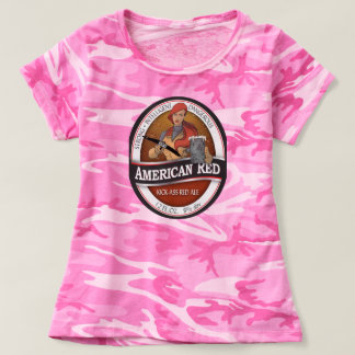 American Red Pink Cammo Ladies T-Shirt
