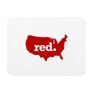 AMERICAN RED STATE RECTANGULAR PHOTO MAGNET