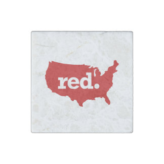 American Red States Stone Magnet