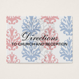 american red white and blue damask business card
