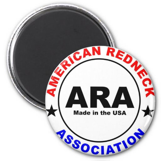 American Redneck Association Fridge Magnet