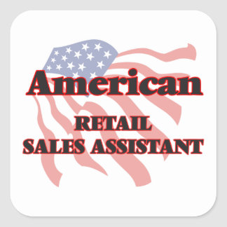 American Retail Sales Assistant Square Sticker