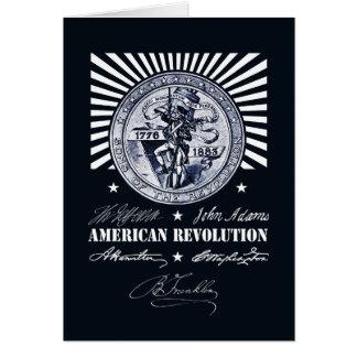 American Revolution Alexander Hamilton Washington Card