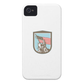 American Revolutionary Serviceman Horse Flag Retro Case-Mate iPhone 4 Cases