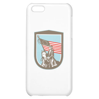 American Revolutionary Serviceman Horse Flag Retro Cover For iPhone 5C