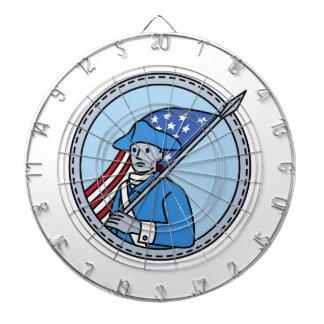 American Revolutionary Soldier Flag Circle Mono Li Dartboard