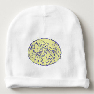 American Revolutionary Soldiers Marching Oval Mono Baby Beanie