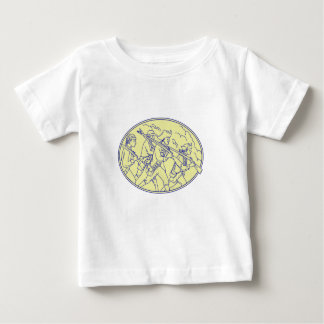 American Revolutionary Soldiers Marching Oval Mono Baby T-Shirt