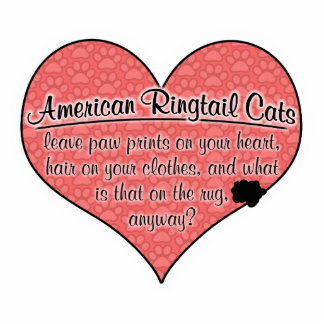 American Ringtail Paw Prints Cat Humor Cut Out