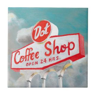 American Roadside | Coffee Shop Sign Ceramic Tile