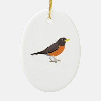 American Robin Illustration Ornaments
