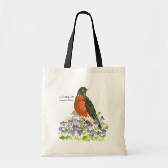 American Robin Wisconsin State Bird Tote Bag