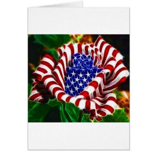 American Rose Flag Greeting Card