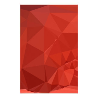 American Rose Red Abstract Low Polygon Background Stationery