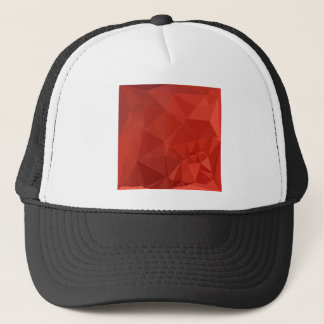 American Rose Red Abstract Low Polygon Background Trucker Hat