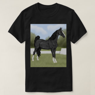 American Saddle-bred Black Horse T-Shirt