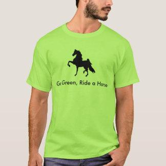 American Saddlebred -  Go Green, Ride a Horse T T-Shirt