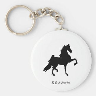 American Saddlebred Horse Key Ring