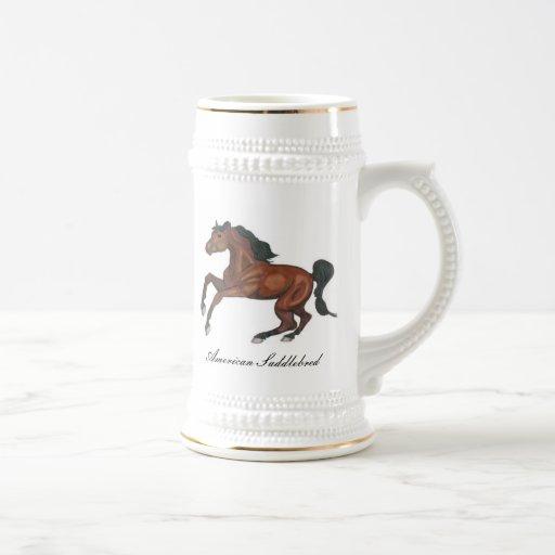 American Saddlebred Horse Coffee Mugs