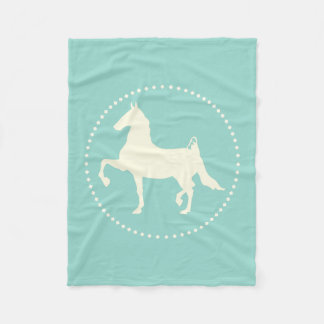 American Saddlebred Horse Silhouette Fleece Blanket