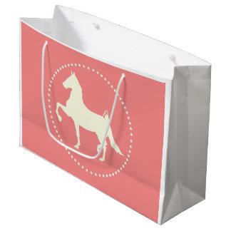 American Saddlebred Horse Silhouette Large Gift Bag