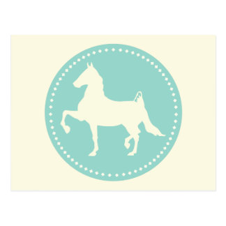 American Saddlebred Horse Silhouette Postcard