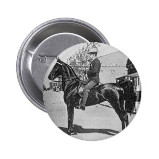 American Saddlebred Horse Vintage Photograph 6 Cm Round Badge