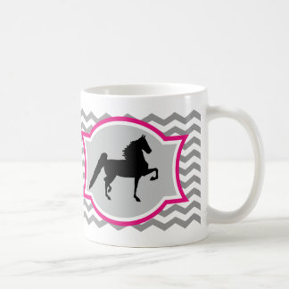 American Saddlebred Mug - Gray and Pink