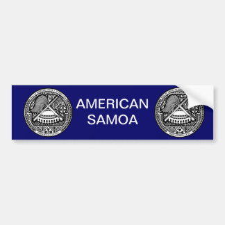 American Samoa Coat of Arms Bumper Sticker