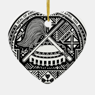 American Samoa Coat of Arms Ceramic Ornament