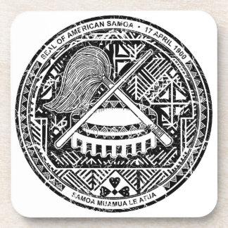 American Samoa Coat Of Arms Coaster