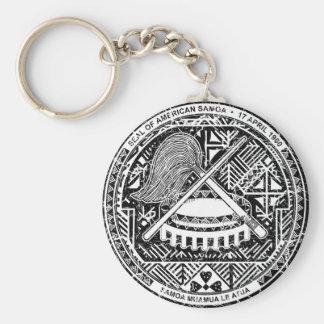 American Samoa Coat Of Arms Key Ring