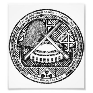 American Samoa Coat Of Arms Art Photo
