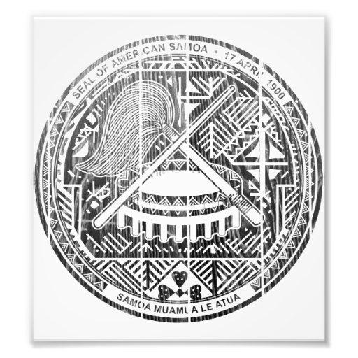 American Samoa Coat Of Arms Photographic Print