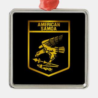 American Samoa Emblem Metal Ornament