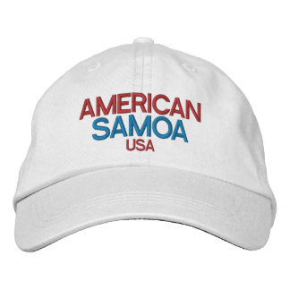 American Samoa Embriodered Hat