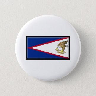 American Samoa Flag 6 Cm Round Badge