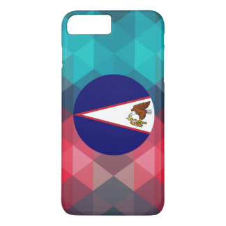 American Samoa flag circle on modern bokeh iPhone 7 Plus Case