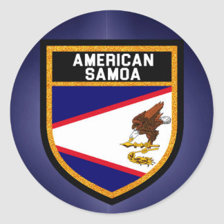 American Samoa Flag Classic Round Sticker