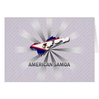 American Samoa Flag Map 2.0 Card