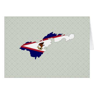 American Samoa Flag Map full size Greeting Card