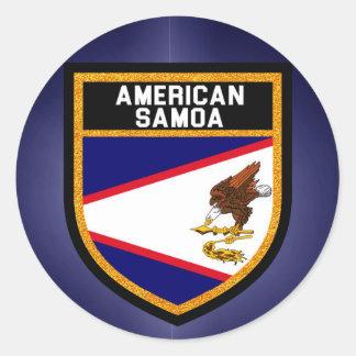 American Samoa Flag Round Sticker
