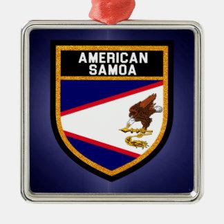 American Samoa Flag Silver-Colored Square Decoration