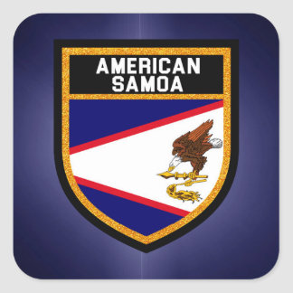 American Samoa Flag Square Sticker