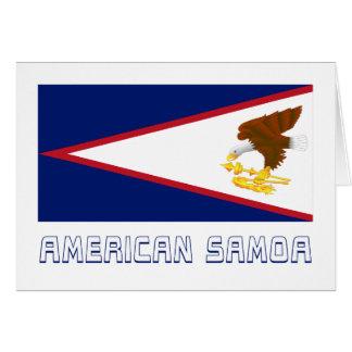 American Samoa Flag with Name Greeting Cards