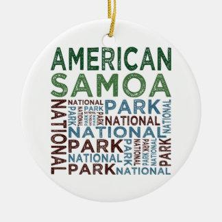 American Samoa National Park Ceramic Ornament