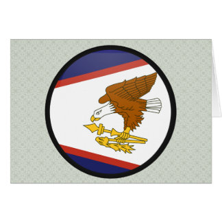 American Samoa quality Flag Circle Card